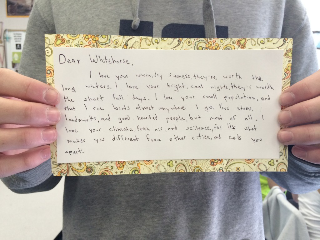 A Whitehorse letter